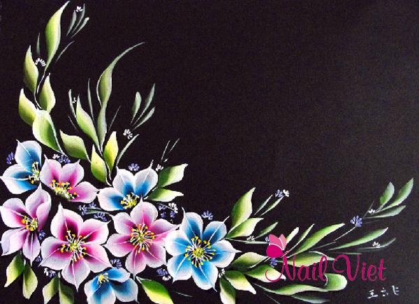 Bộ sưu tập khung tranh được thực hiện bằng các kĩ thuật vẽ móng của Winnie Academy