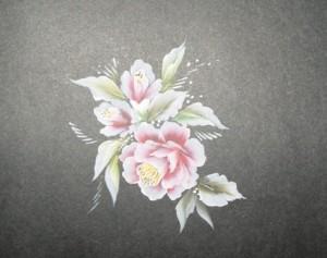 Cuối cùng, bổ sung các chi tiết nhỏ cho bông hoa như nhụy, chấm ....