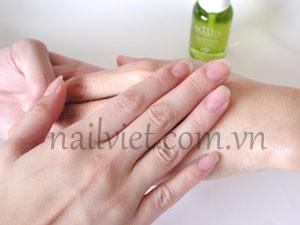 Tiếp tục sử dụng các sản phẩm dưỡng tay khác (bước 3)