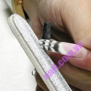 Hướng dẫn đắp móng gel kết hợp nét kim với gel màu