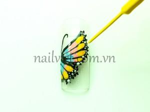 Lặp lại cho đến khi hết toàn bộ cánh bướm