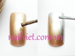 Sơn nền cho móng sử dụng sơn màu đồng và ghi