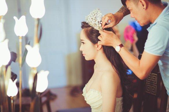 Kết quả hình ảnh cho trang điểm cô dâu