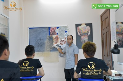 Chuyên Ngành Xăm Hình Nghệ Thuật Tại Học Viện Làm Đẹp Quốc Tế Winnie Academy