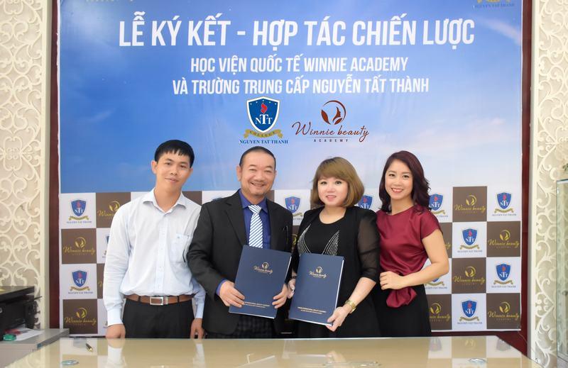 Ký kết hợp tác chiến lược giữa trường Trung cấp Nguyễn Tất Thành và Trung tâm Winnie Academy