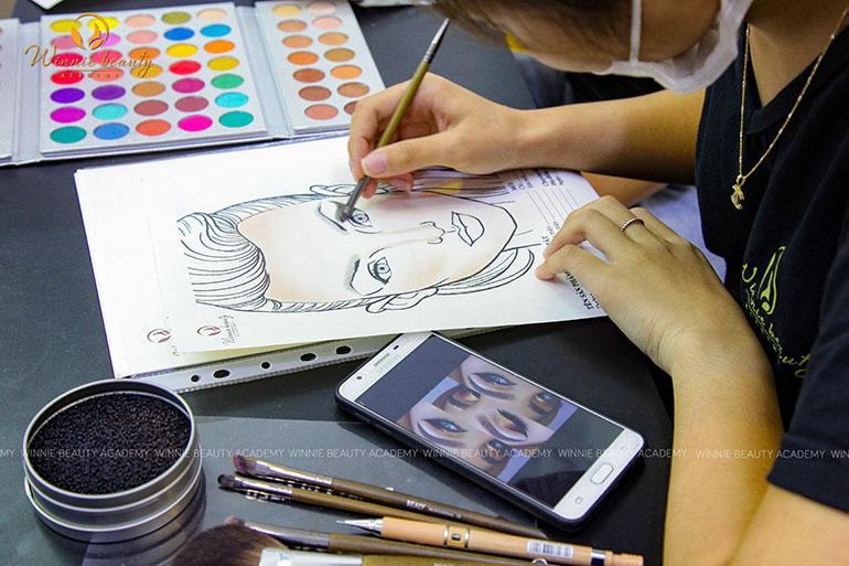 Hướng dẫn vẽ chân mày trên giấy Facechart