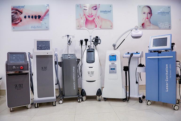 Máy móc công nghệ hiện đại có mặt tại Winnie để học viên trải nghiệm