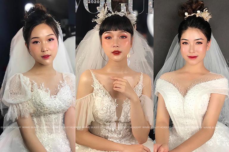 Học viên trả bài chuyên đề Trang điểm Cô dâu