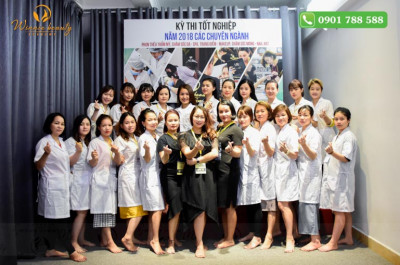 Kỳ Thi Tốt Nghiệp Ngành Spa và Phun Thêu Quý II 2018 Tại Winnie Beauty Academy