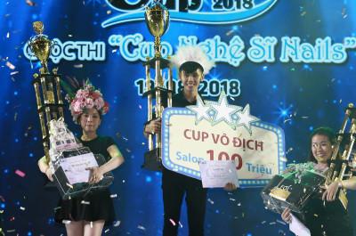 Quán quân cuộc thi cup nghệ sĩ Nail 2018