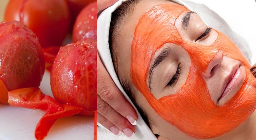 cách đắp mặt nạ quả cà chua chín