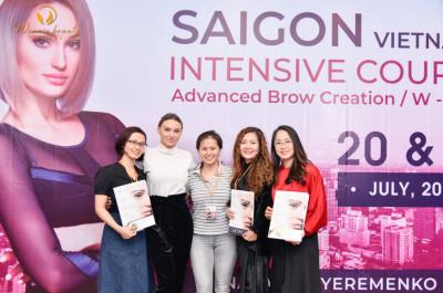 Winnie Beauty Academy tại khóa học Hairstroke chuyên sâu của chuyên gia Nataliya Yeremenko