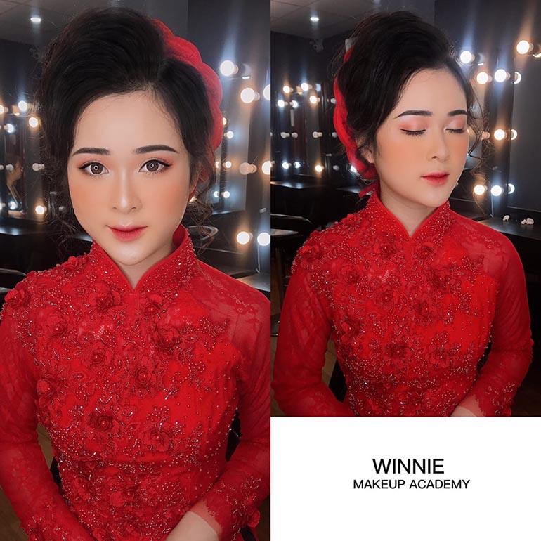 Áo dài đỏ, tone Make up nào là phù hợp ?