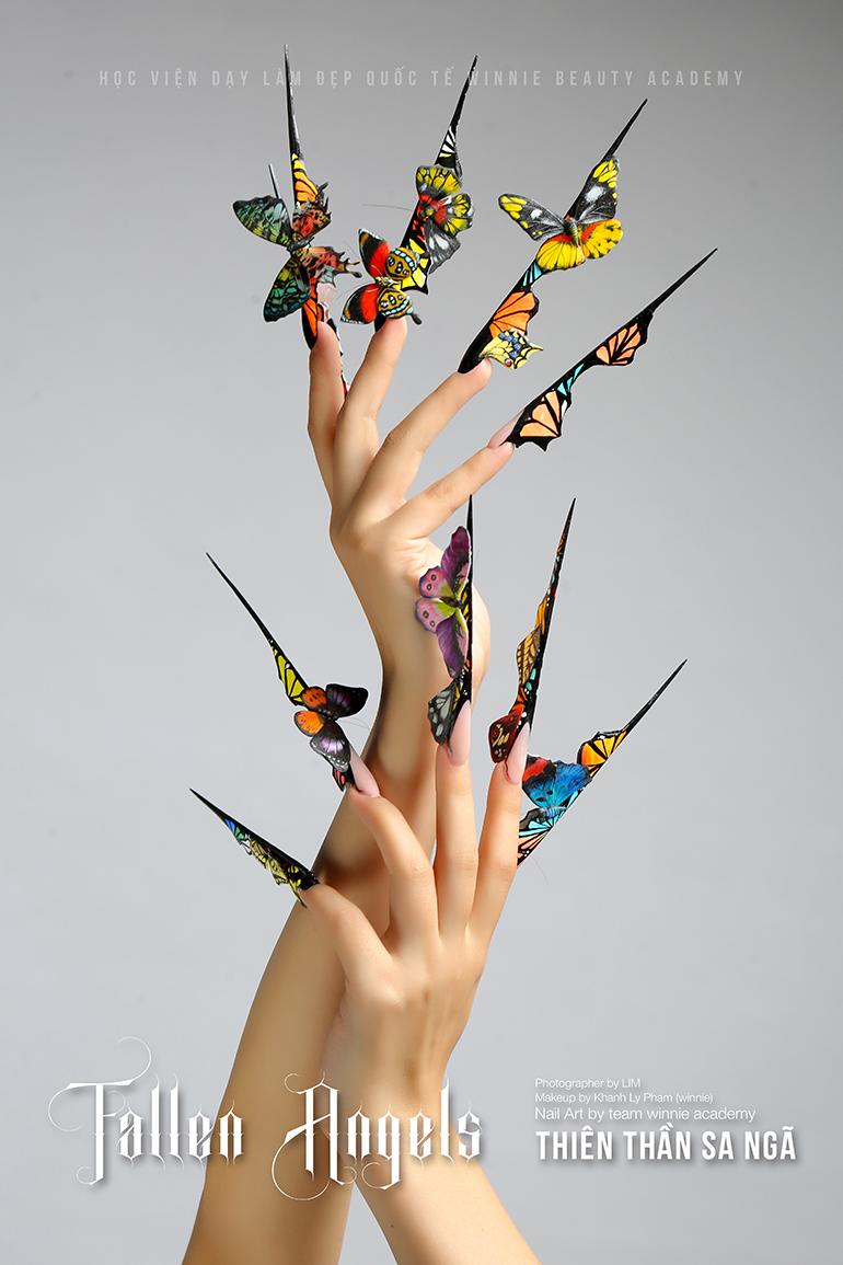 Nails Art - Bướm tả thực